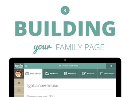 Building Your Family Page